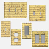 Classical Sheet Music Notes Antique Look Handmade Light Switch Covers & Outlets- Simply Chic Gal