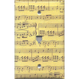 Phone Jack Cover in Classical Sheet Music Notes Antique Look Handmade- Simply Chic Gal