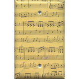 Single Blank Cover in Classical Sheet Music Notes Antique Look Handmade- Simply Chic Gal