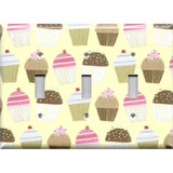Triple Toggle Light Switch Cover in Vanilla and Chocolate Cupcakes Bakery Decor