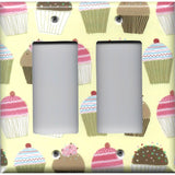 Double Rocker Decora Light Switch Cover in Vanilla and Chocolate Cupcakes
