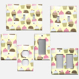 Vanilla and Chocolate Cupcakes Light Switchplates & Wall Outlet Covers