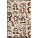 Cable Jack Cover in Cute Silly Monkeys Tan & Brown Print