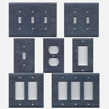 Dark Denim Blue Jean Look Navy Blue Hand Made Light Switch Plates & Outlet Covers