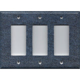 Triple Rocker Decora Light Switch Cover in Dark Denim Blue Jean Navy Blue