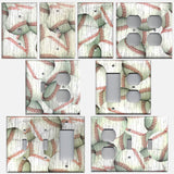 Distressed Rustic Baseball Decor Light Switch Plates and Outlet Covers