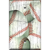 Single Blank Cover in Distressed Rustic Baseball Decor