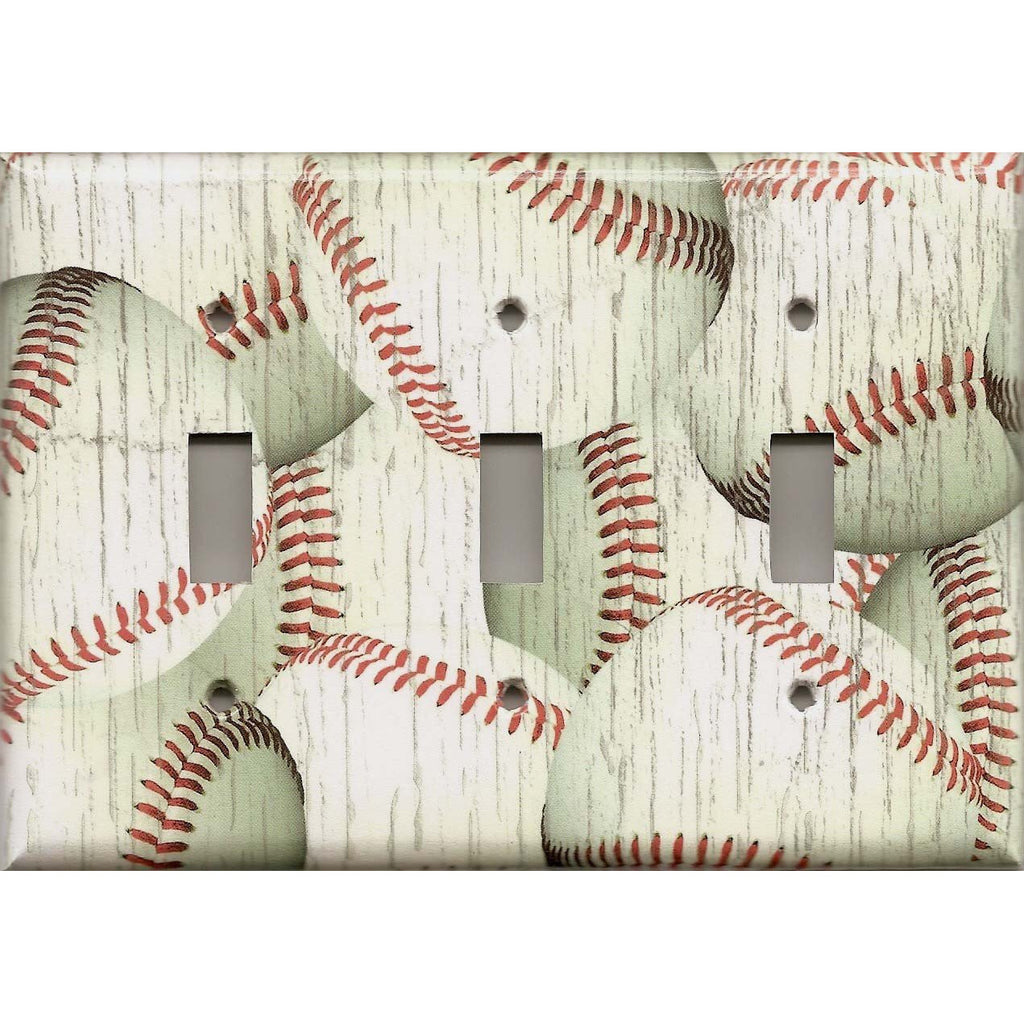 Distressed Baseball Baseballs Rustic Handmade Light