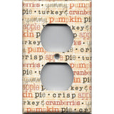 Yummy Fall Phrases Wall Outlet Cover, Thanksgiving Decor