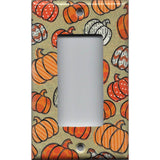 Fall Pumpkins with Chevron and Polka Dots Light Switchplates & Outlet Covers