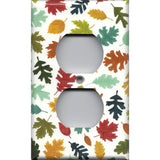 Wall Outlet Cover in Fall Leaves Handmade Autumn Decor- Simply Chic Gal