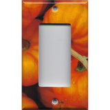 Single Rocker Decora GFI Outlet Cover in Rustic Fall Pumpkin Decor