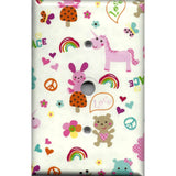 Cable Jack Cover in Little Girls Fantasy Unicorns Rainbows
