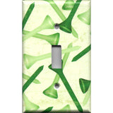 Single Toggle Light Switch Cover in Green Golf Tees Man Cave Hand Made- Simply Chic Gal