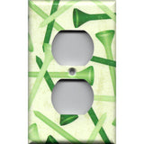 Wall Outlet Cover in Green Golf Tees Man Cave Hand Made- Simply Chic Gal