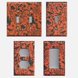 Halloween Witches Spider Webs Cats Light Switchplates & Outlet Covers