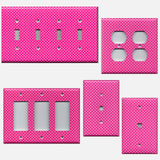 Hot Pink with Small White Dots Light Switchplates & Outlet Covers