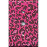 Cable Jack Cover in Hot Pink & Black Leopard Animal Print- Handmade Home Decor- Simply Chic Gal
