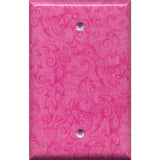Single Blank Cover in Hot Pink Floral Swirls Decor