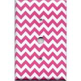 Cable Jack Cover in Hot Pink Chevron Zig Zag Print