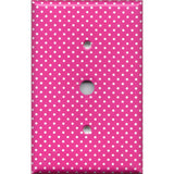 Cable Jack Cover in Hot Pink with Small White Dots