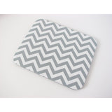 Silver/Gray and White Chevron Print Mouse Pad High Quality Office Desk Decor