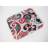 Black Red & White Floral Paisley Design Mouse Pad Computer Accessories