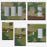 Camo Camouflage Print Man Cave/Boys Room Handmade Switch Plates & Outlet Covers- Simply Chic Gal