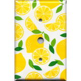 Cable Jack Cover in Yellow Lemon Slices Kitchen Decor
