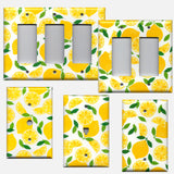 Yellow Lemon Slices Kitchen Decor Light Switch Plates & Outlet Covers
