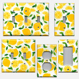 Bright Yellow Lemons/Lemon Slices Kitchen Decor Light Switch Plates and Wall Outlet Covers Farmhouse Kitchen Light Switch Covers