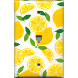 Phone Jack Cover in Yellow Lemon Slices Kitchen Decor