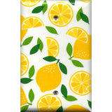 Single Blank Cover in Yellow Lemon Slices Kitchen Decor