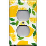 Wall Outlet Cover in Bright Yellow Lemon Slices Handmade Kitchen Decor- Simply Chic Gal