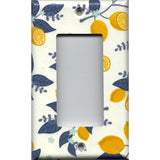 Single Rocker Decora GFI Outlet Cover in Lemons Farmhouse Kitchen Decor