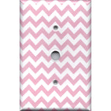 Cable Jack Cover in Light Pink Chevron Zig Zag Print Handmade- Simply Chic Gal