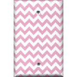 Single Blank Cover in Light Pink Chevron Zig Zag Print Handmade- Simply Chic Gal