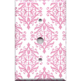 Cable Jack Cover in Light Pink Elegant Damask Handmade Baby Girl Nursery Decor