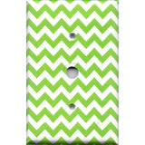Cable Jack Cover in Lime Green Chevron Print