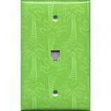 Phone Jack Cover in Lime Green Palm Trees Beach House Handmade- Simply Chic Gal