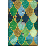 Cable Jack Cover in Mermaid Tail Blue, Green, & Gold Scales
