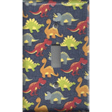 Single Toggle Light Switch Plate in Small Dinosaurs Boys Bedroom Decor