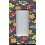 Single Rocker Decora GFCI Outlet Cover in Small Dinosaurs Boys Bedroom Decor