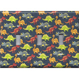 Small Multi Color Dinosaurs Boys Room Light Switchplates & Outlet Covers