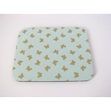 Shabby Chic Mouse Pad in Mint Green with Metallic Gold Butterflies