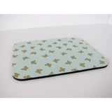 Mousepad in Mint Green with Metallic Gold Butterflies Mouse Pad Shabby Chic
