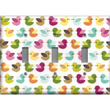 Multi Color Baby Rubber Ducks Light Switch Plates & Outlet Covers Nursery Decor