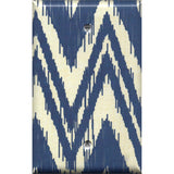 Single Blank Cover in Navy Blue & Cream Chevron Boho Decor