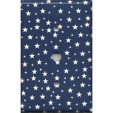 Cable Jack Cover in Navy Patriotic Americana Night Sky Stars Handmade- Simply Chic Gal
