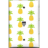 Phone Jack Cover in Tropical Pineapple Hawaiian Decor